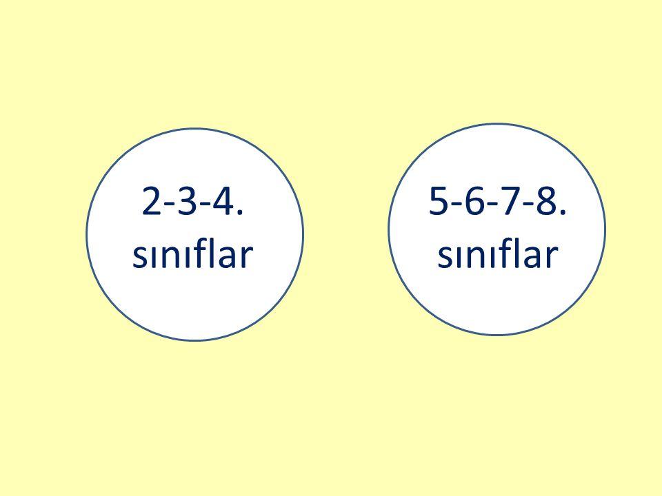 2-3-4. sınıflar 5-6-7-8. sınıflar