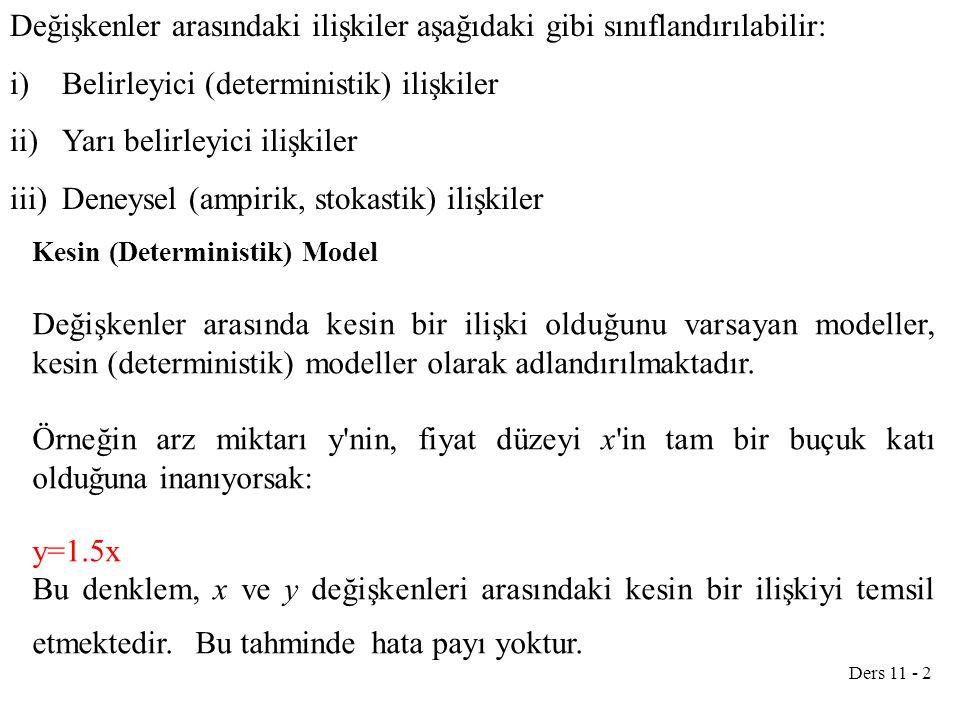 Ders 11 - 13 2.DETERMİNANT METODU