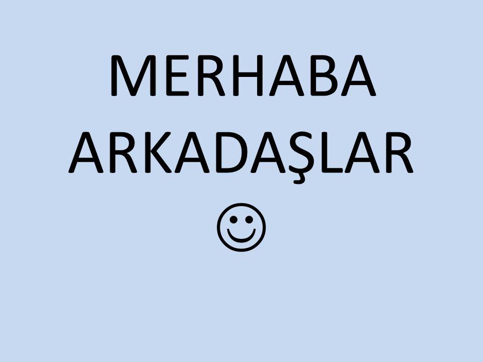 MERHABA ARKADAŞLAR
