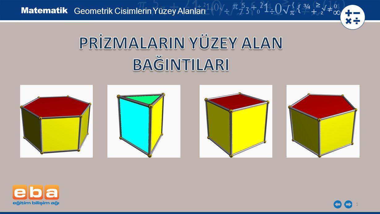 1 Geometrik Cisimlerin Yüzey Alanları