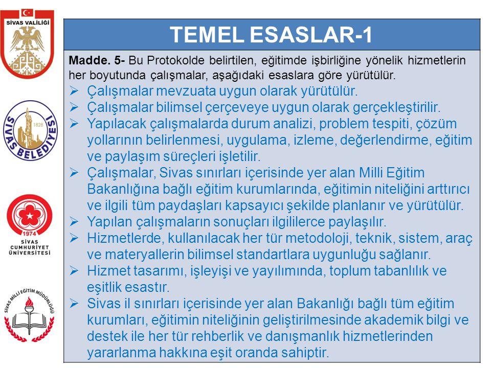 6 TEMEL ESASLAR-2  Yapılacak olan çalışmalar için projelendirme suretiyle destek ve sponsor arayışı içerisine girilecek olsa da, faaliyetlerin parasal kaygılar içerisine girilmeden yürütülmesi esastır.