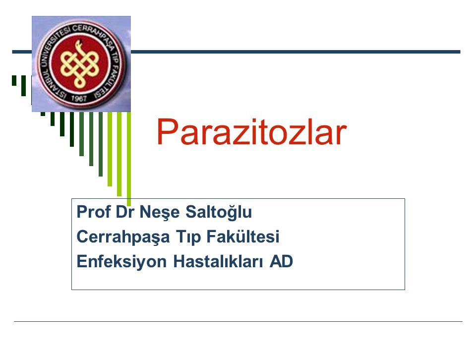 Parazitozlar Prof Dr Neşe Saltoğlu Cerrahpaşa Tıp Fakültesi Enfeksiyon Hastalıkları AD