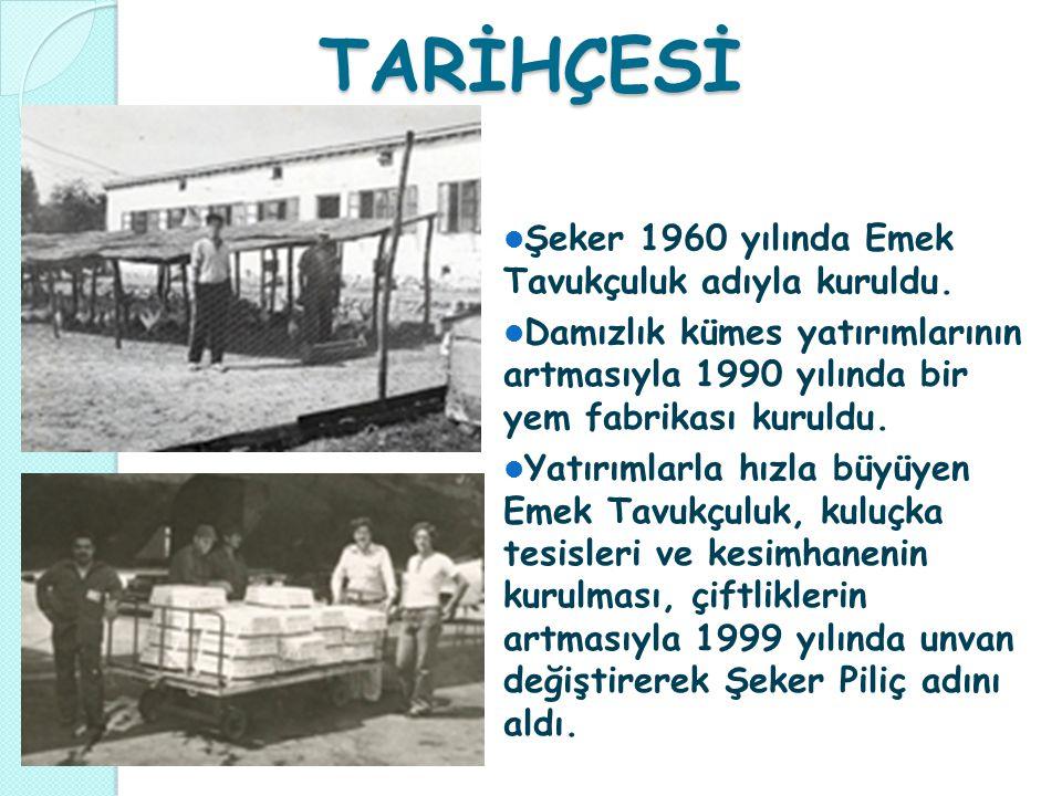 TARİHÇESİ Şeker 1960 yılında Emek Tavukçuluk adıyla kuruldu.