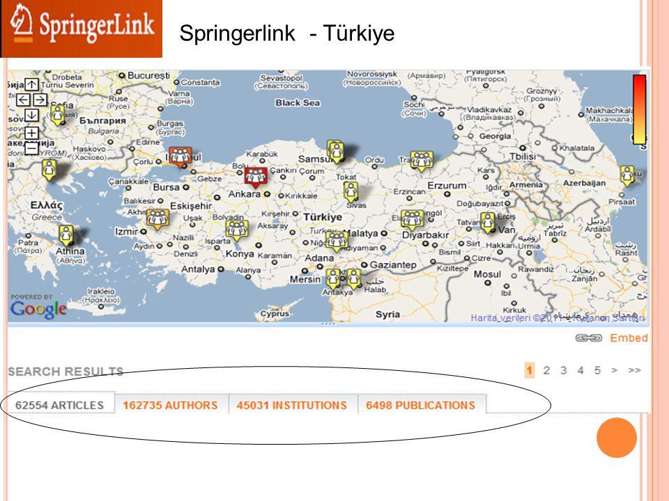 Springerlink - Türkiye