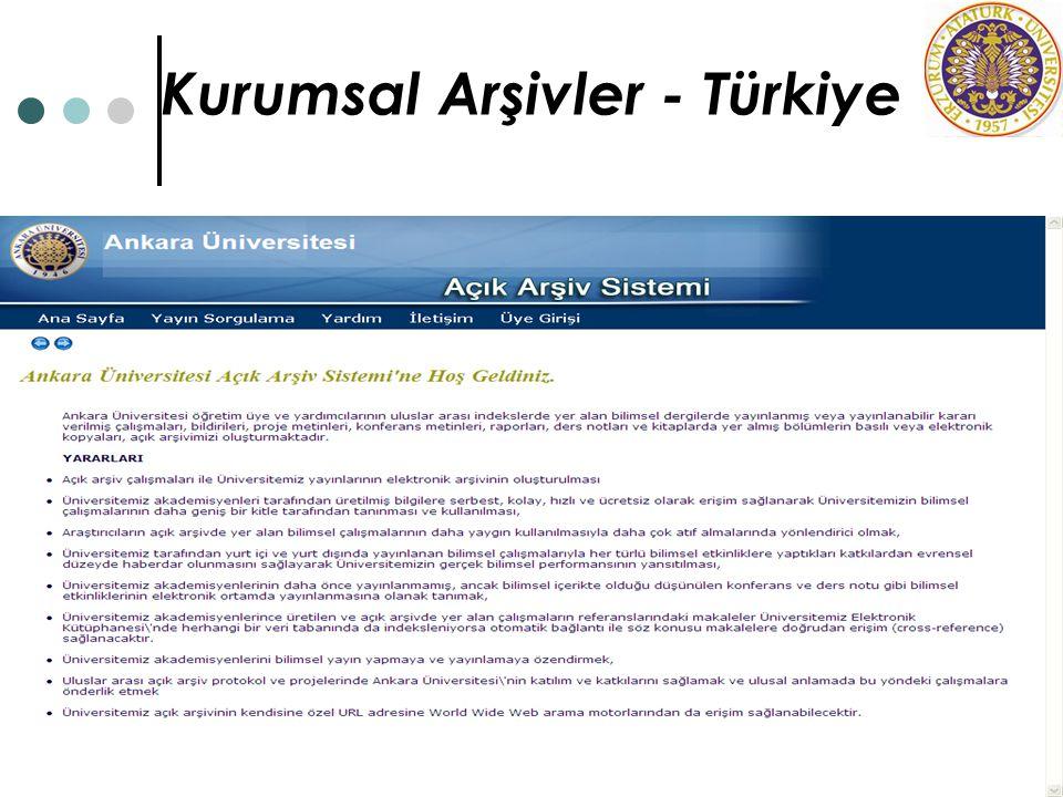 Kurumsal Arşivler - Türkiye