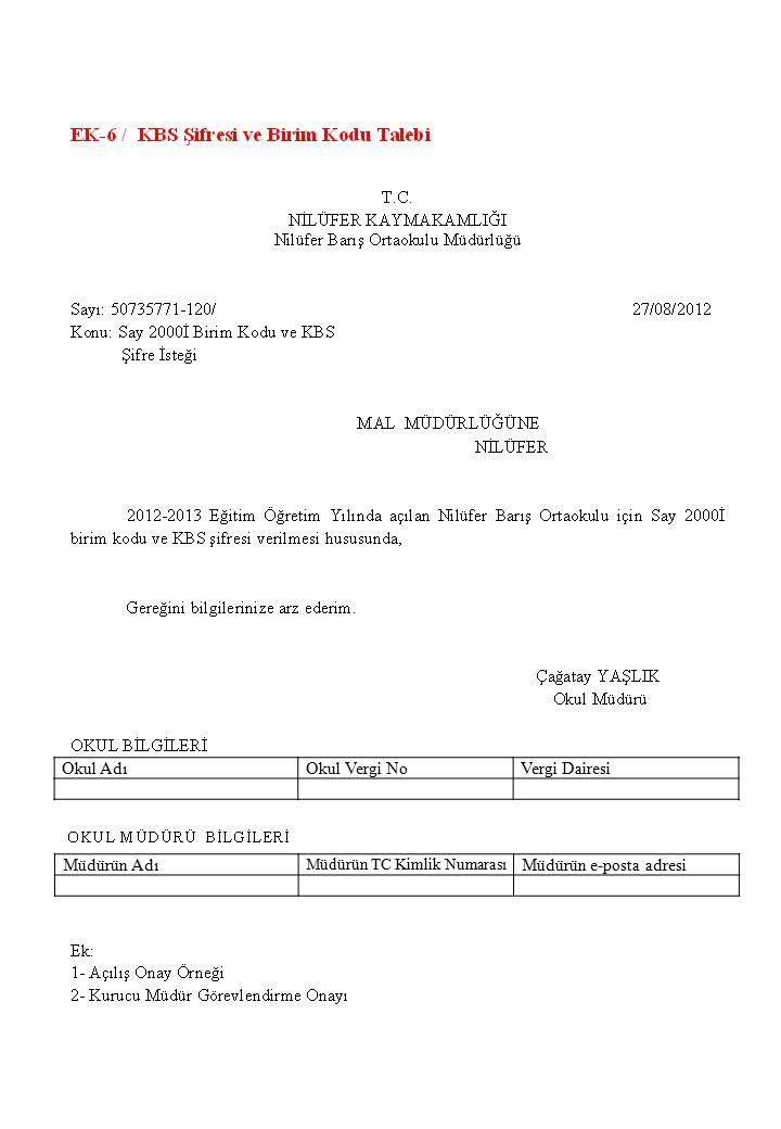 Okul AdıOkul Vergi NoVergi Dairesi Müdürün Adı Müdürün TC Kimlik Numarası Müdürün e-posta adresi