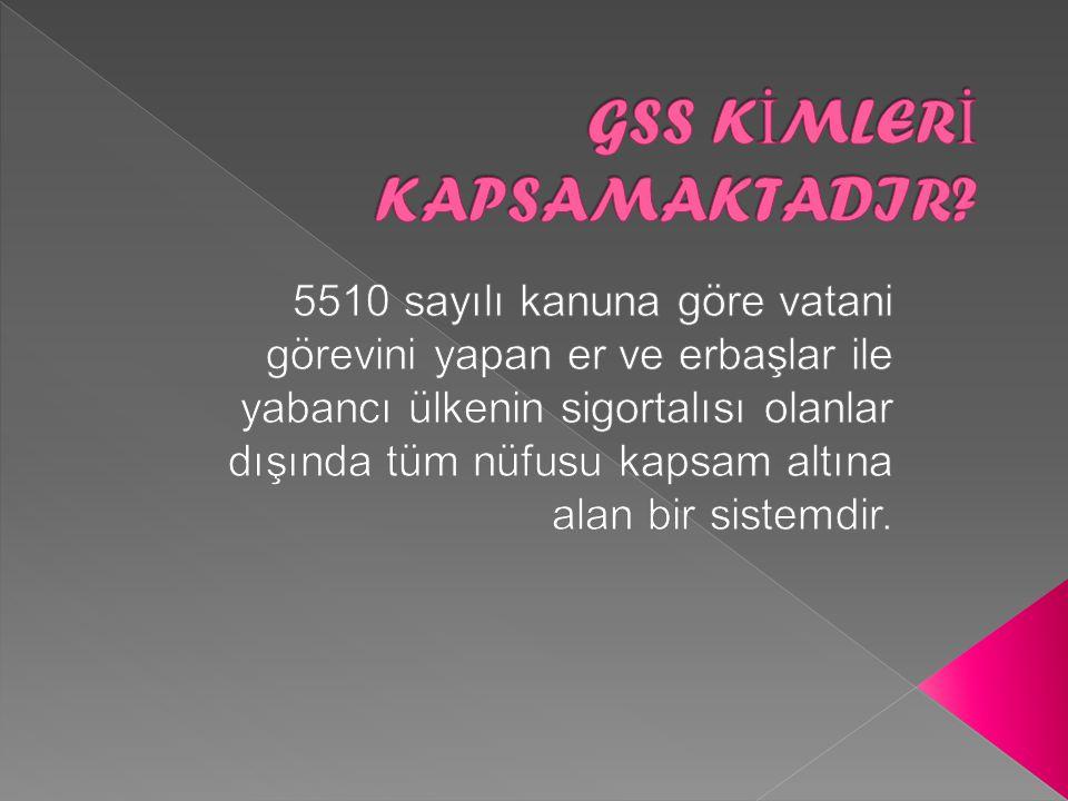 5510 sayılı kanunda, sigortalı sayılanlardan alınacak prim oranının, belirlenen prime esas kazancın %12.5'i olarak tespit edilmiştir.