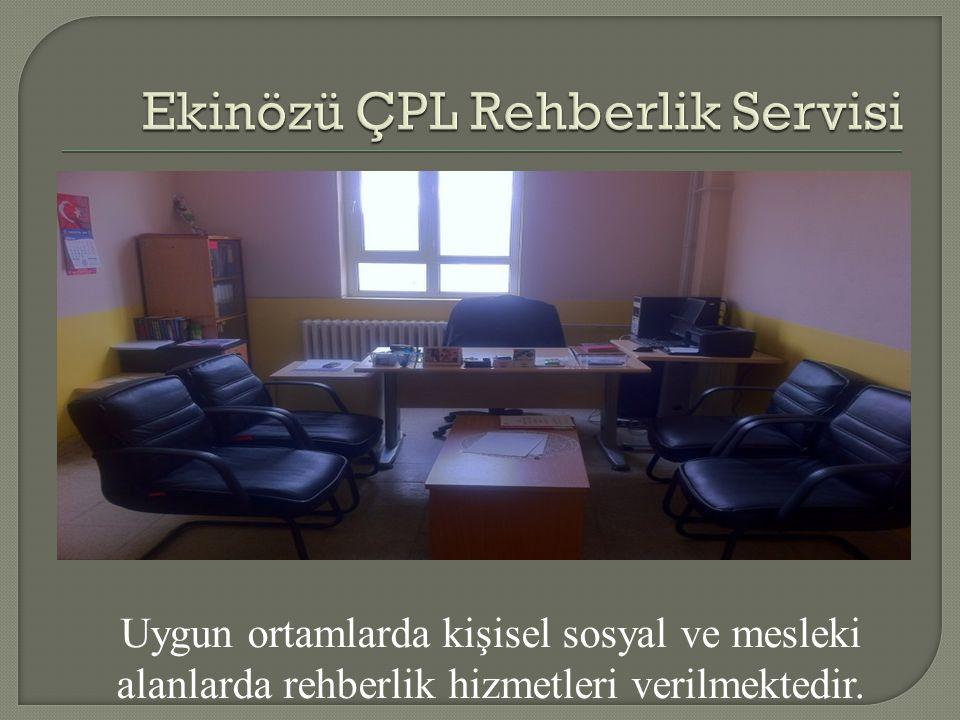 Uygun ortamlarda kişisel sosyal ve mesleki alanlarda rehberlik hizmetleri verilmektedir.