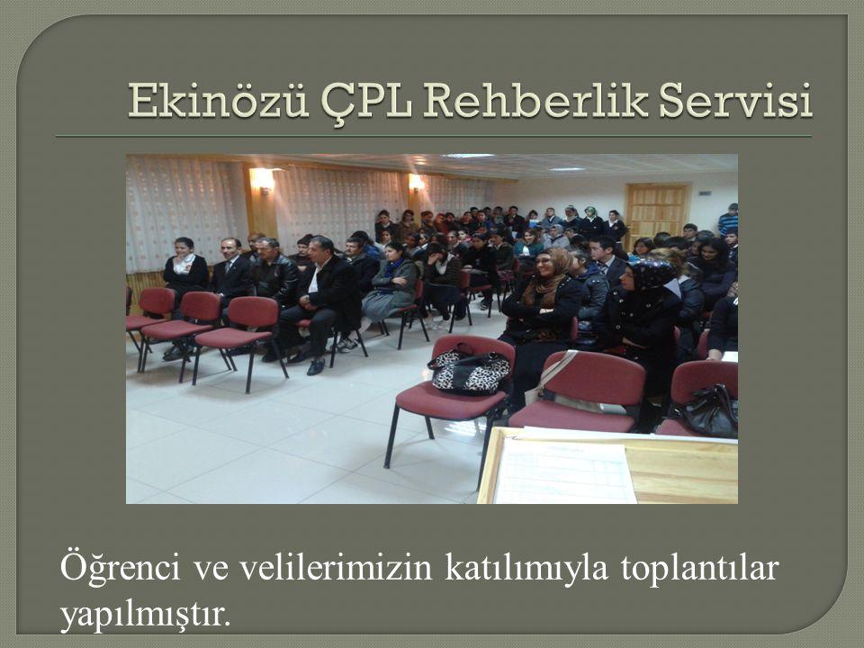 Öğrenci ve velilerimizin katılımıyla toplantılar yapılmıştır.