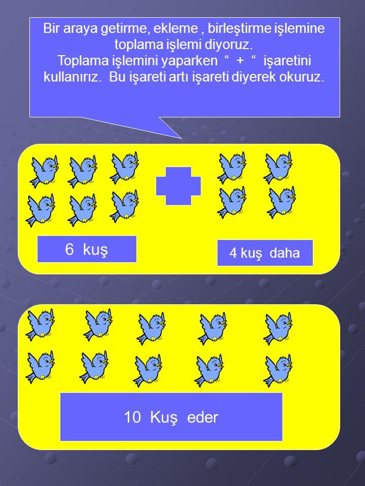 T a h a ' n ı n e t r a f ı n d a k i t a v u k l a r ı s a y a l ı m. 1 7 6 5 4 3 2 Taha 'nın etrafındaki 3 tavuğa, 4 tavuk daha eklenince 7 tane tav