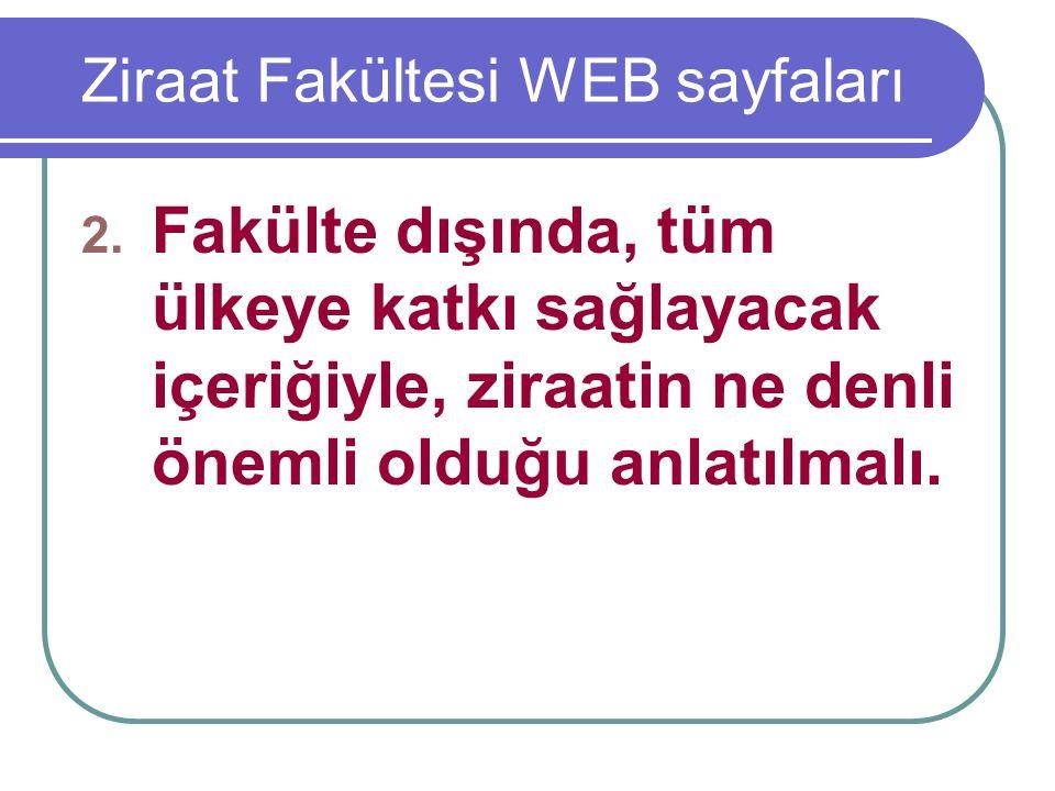 Ziraat Fakültesi WEB sayfaları 2.