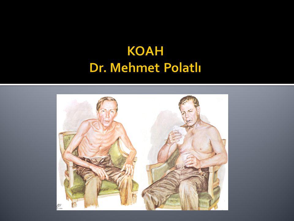  65 yaşında, KOAH tanılı hasta  50 paket-yıl sigara öyküsü (+).