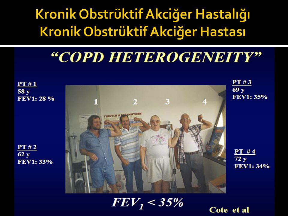 1.İnhaler salbutamol sonrasında FEV1'de 200 mL veya % 12'den fazla artış KOAH'ı dışlar.