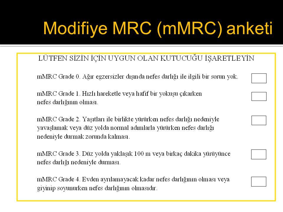 Modifiye MRC (mMRC) anketi