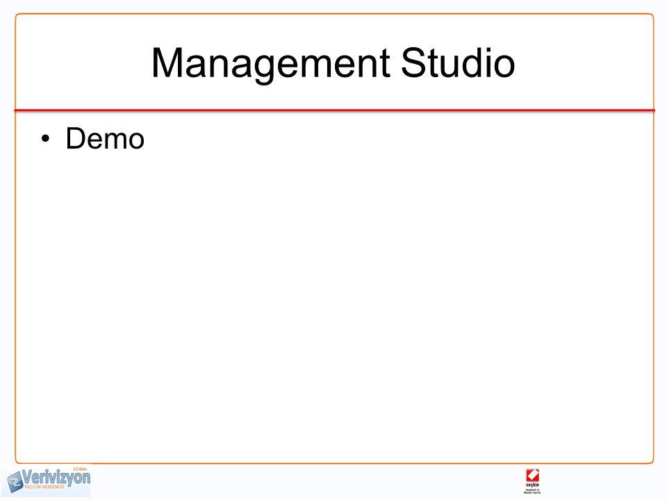 Management Studio Demo