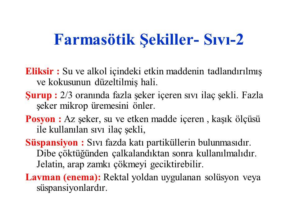 Çeşitli yollardan ilaç uygulama konusunda pratik bilgiler- 3 7.