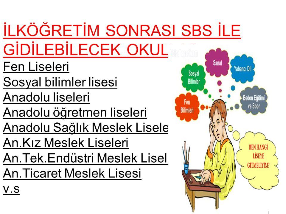 2012-2013 EĞİTİM ÖĞRETİM YILI SBS SINAVI