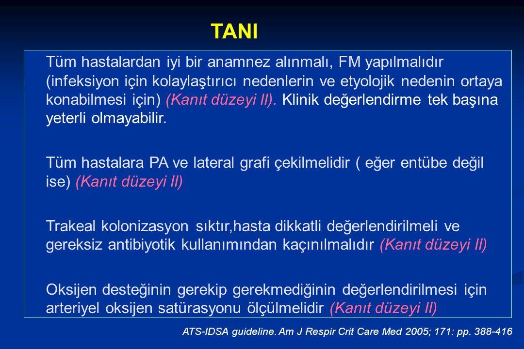 TANI Tüm hastalardan iyi bir anamnez alınmalı, FM yapılmalıdır (infeksiyon için kolaylaştırıcı nedenlerin ve etyolojik nedenin ortaya konabilmesi için) (Kanıt düzeyi II).