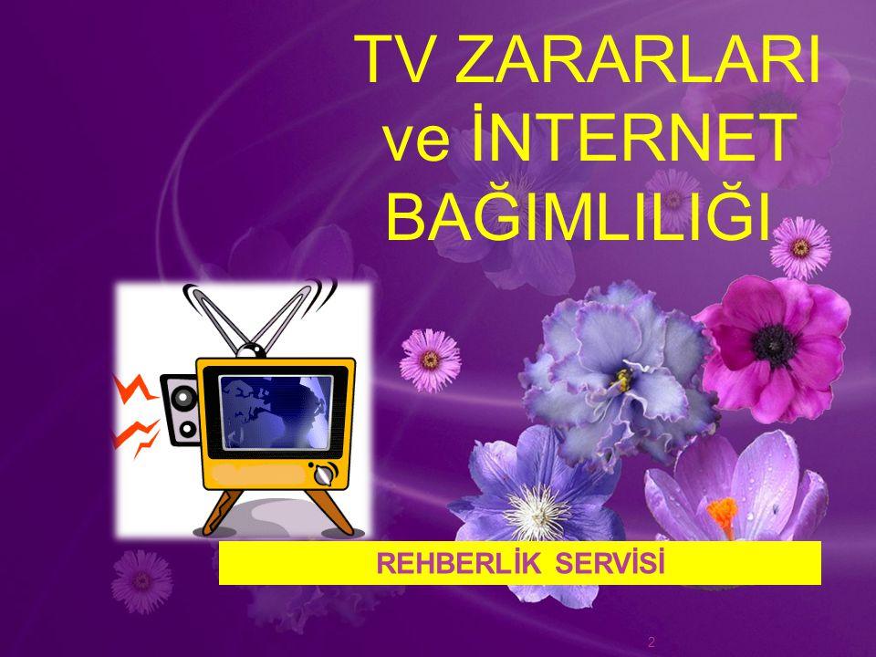 TV ZARARLARI ve İNTERNET BAĞIMLILIĞI REHBERLİK SERVİSİ 2