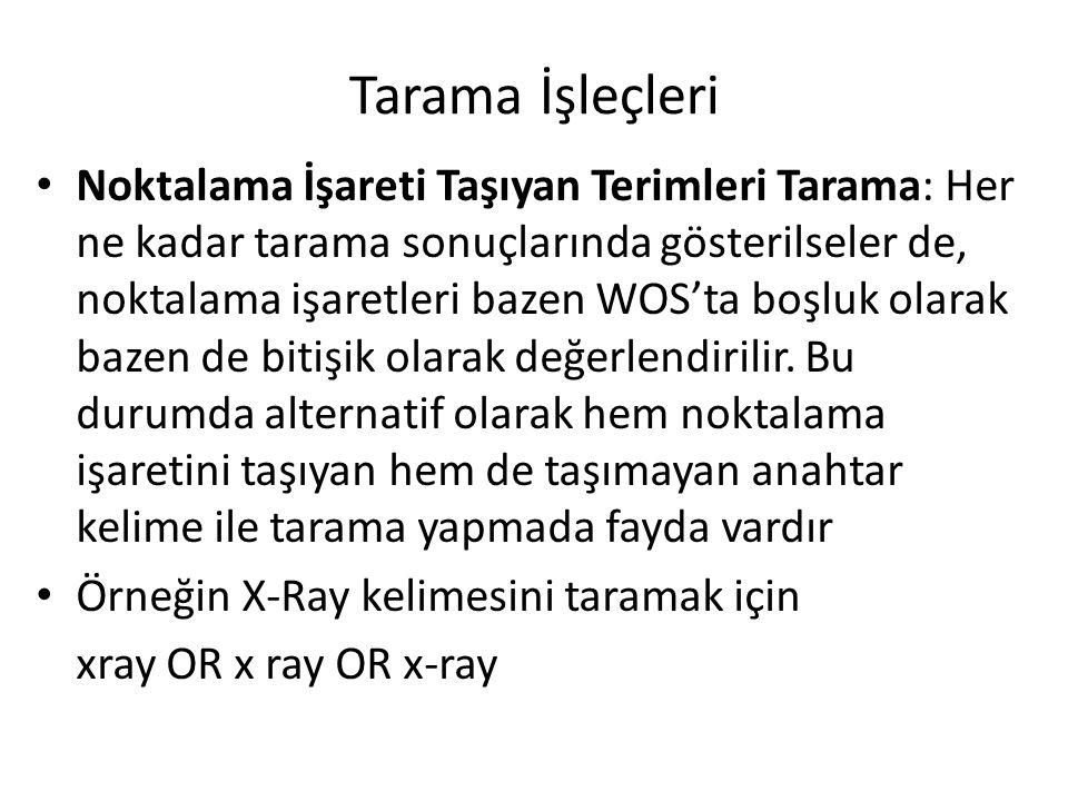 Tarama İşleçleri Eski Yunan Harflerini İçeren Terimleri Tarama: Taramalarda Yunan harflerinin İngilizce okunuşları kullanılır.