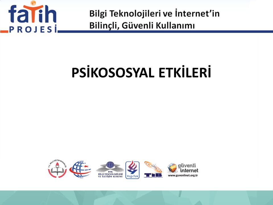 İnternet kullanımının bireyin psikolojik özellikleri ile ilgili 2007 yılında Türkiye'de yapılan bir başka araştırmada, çalışmaya katılan öğrencilerin %31'inde yalan söyleme, %20'sinde şiddeti hoş görme ve %18'inde intihar eğilimleri olduğu ortaya çıkarılmıştır.
