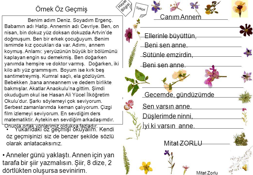 Mitat Zorlu 2 Hayat Bilgisi Türkçe Benim adım Deniz.