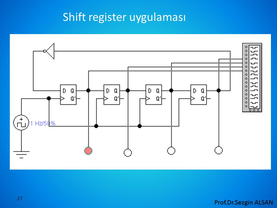 27 Shift register uygulaması