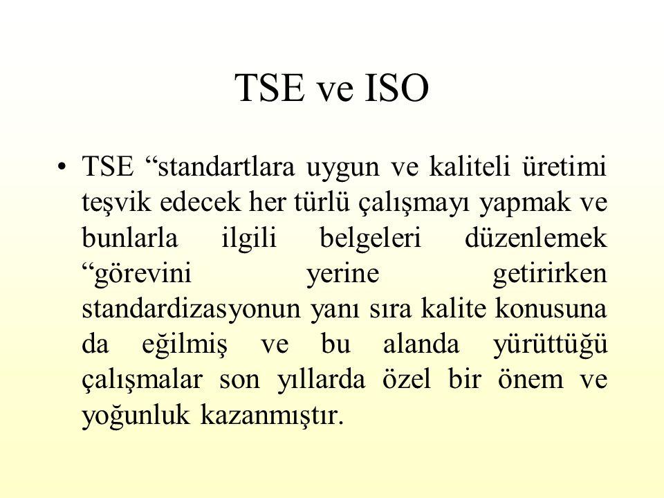 ISO 9000 VE TKY KARŞILAŞTIRMASI İSO 9000 Standardın gereklerini karşılamayı amaçlayan bir yönetim sisitemi Müşteri odaklı olması şart değil, öncelikle