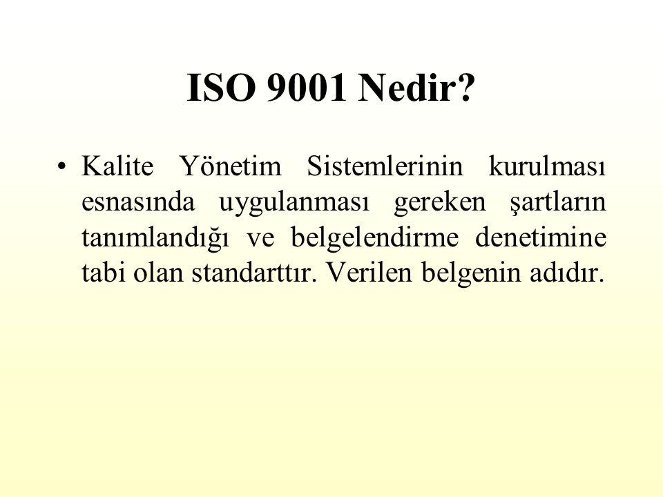 ISO 9000 Nedir? Organizasyonların müşteri memnuniyetinin artırılmasına yönelik olarak kalite yönetim sisteminin kurulması ve geliştirilmesi konusunda