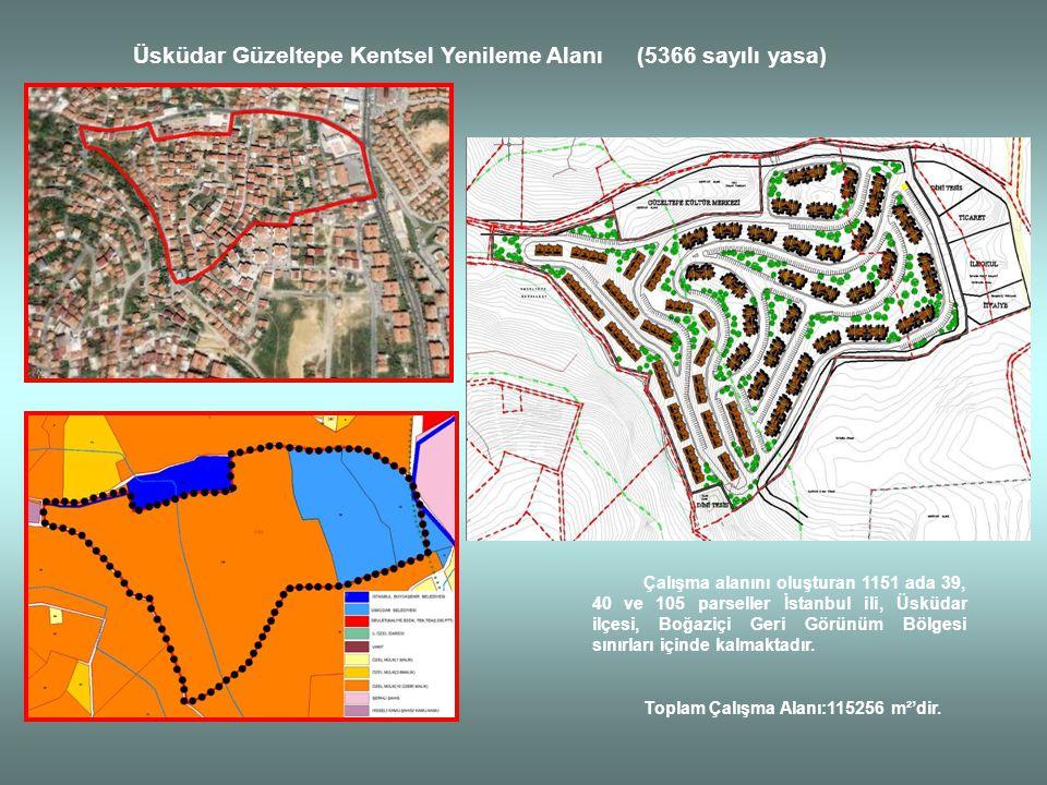 Üsküdar Güzeltepe Kentsel Yenileme Alanı (5366 sayılı yasa) Çalışma alanını oluşturan 1151 ada 39, 40 ve 105 parseller İstanbul ili, Üsküdar ilçesi, B