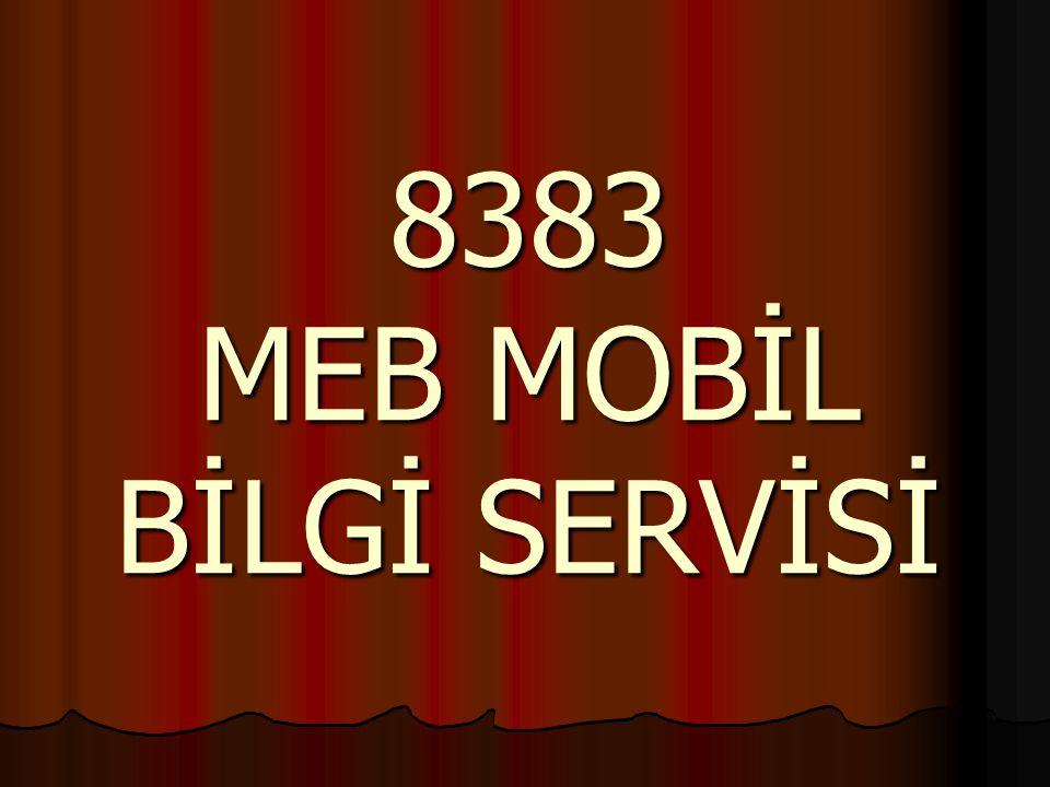 MEB Mobil Bilgi Servisi nedir.