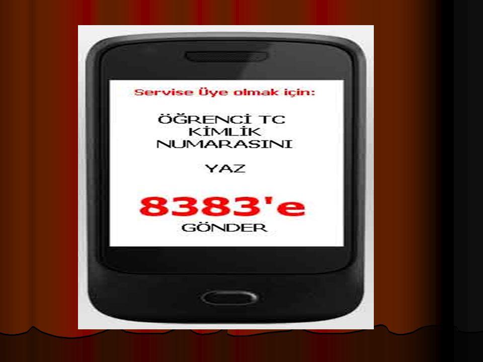 MEB Mobil Bilgi Servisi'ne şu an için internet üzerinden üye olunamamaktadır.
