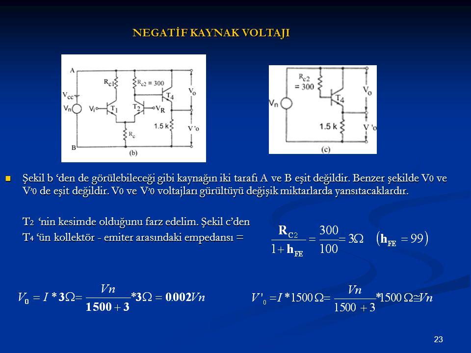 23 Şekil b 'den de görülebileceği gibi kaynağın iki tarafı A ve B eşit değildir. Benzer şekilde V 0 ve V '0 de eşit değildir. V 0 ve V '0 voltajları g