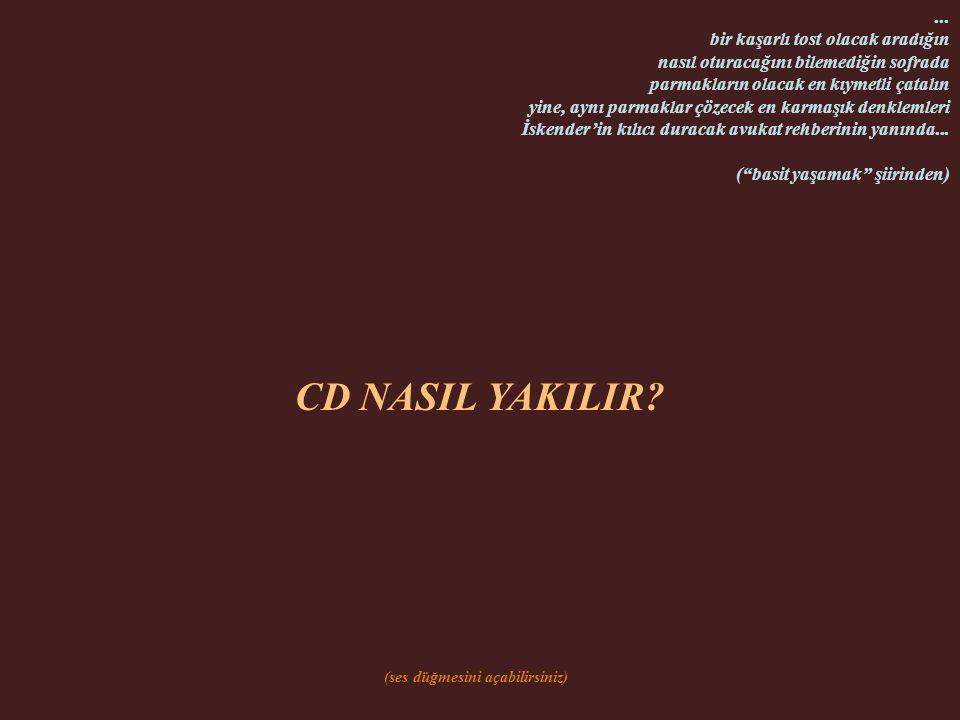 CD NASIL YAKILIR.(ses düğmesini açabilirsiniz)...