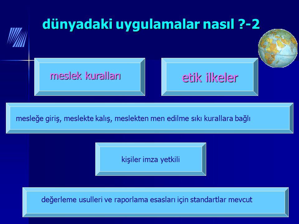 7 kişiler imza yetkili etik ilkeler dünyadaki uygulamalar nasıl ?-2 dünyadaki uygulamalar nasıl ?-2 meslek kuralları mesleğe giriş, meslekte kalış, me