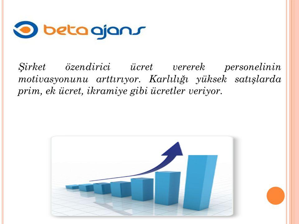 Şirket özendirici ücret vererek personelinin motivasyonunu arttırıyor.