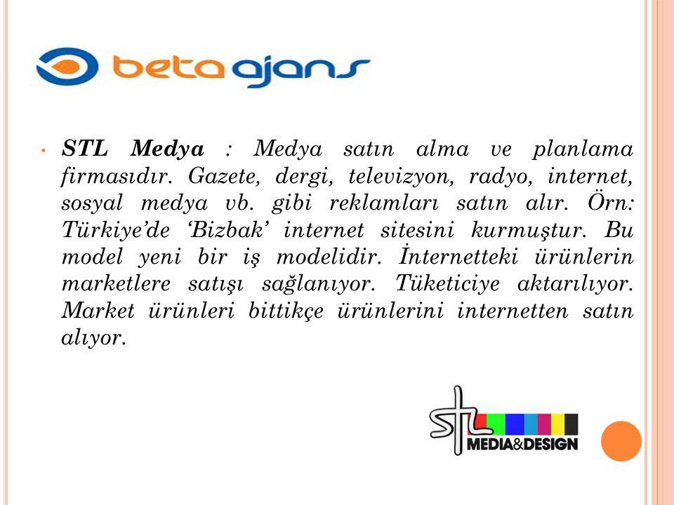 STL Medya : Medya satın alma ve planlama firmasıdır.