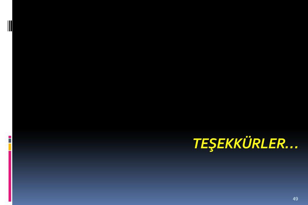 TEŞEKKÜRLER… 49