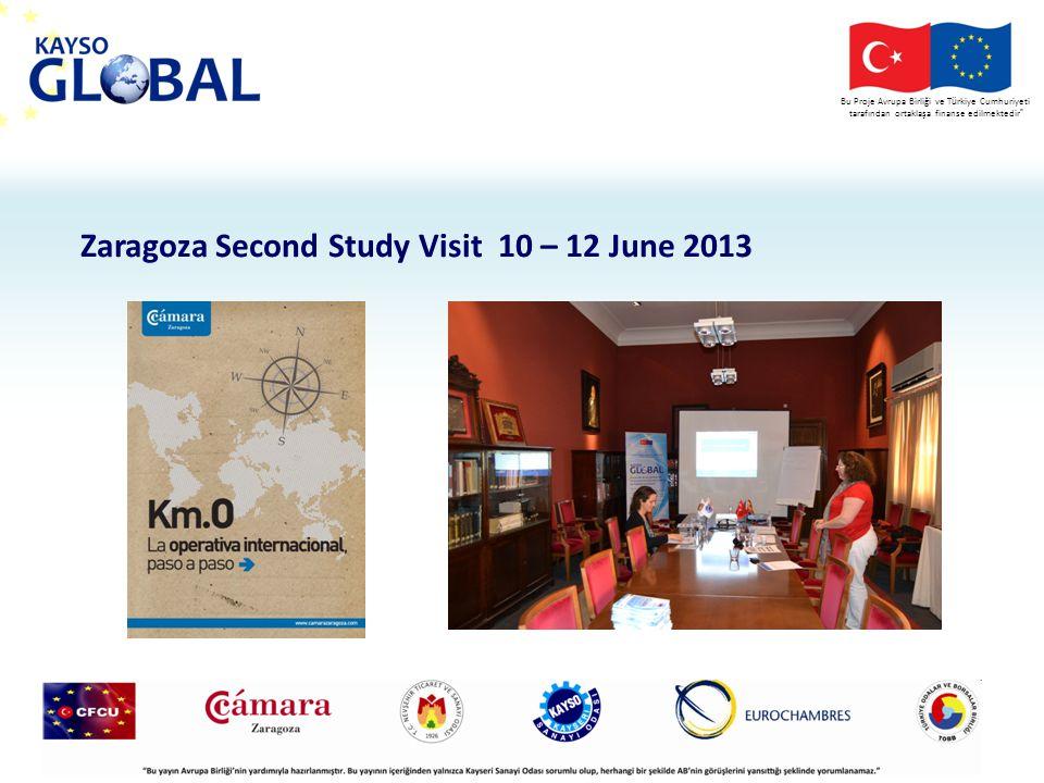 Bu Proje Avrupa Birliği ve T ü rkiye Cumhuriyeti tarafından ortaklaşa finanse edilmektedir Zaragoza Second Study Visit 10 – 12 June 2013