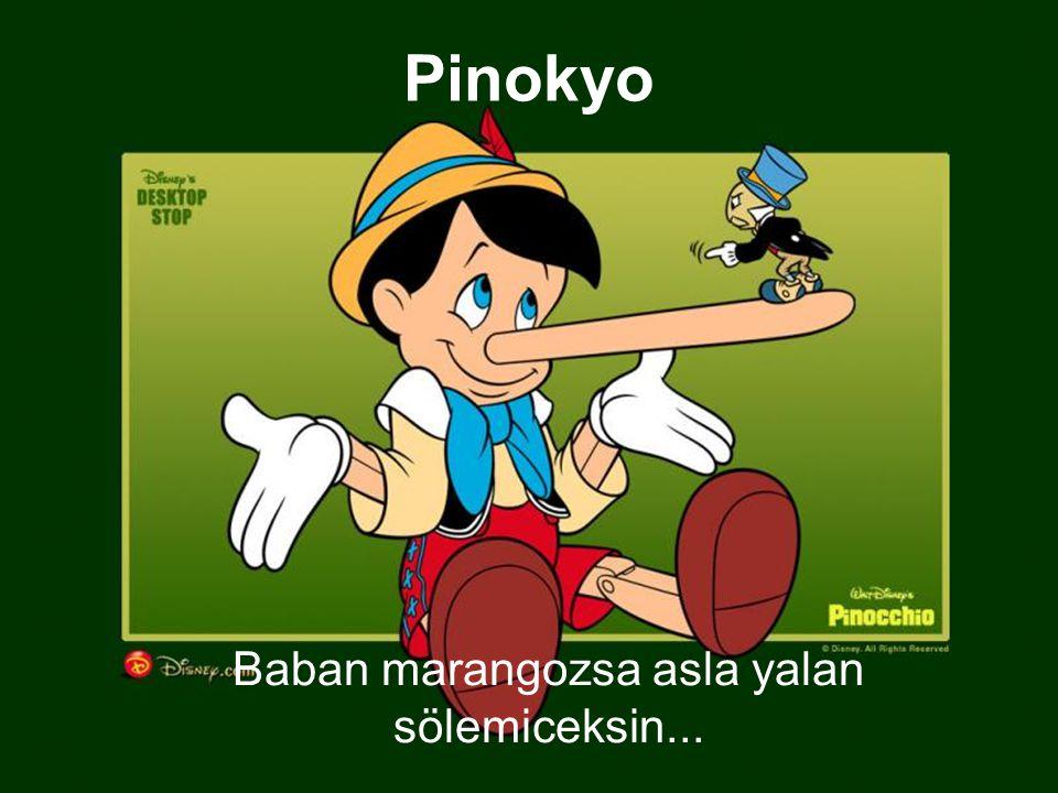 Pinokyo Baban marangozsa asla yalan sölemiceksin...