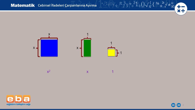3 4x+6 ifadesinin çarpanlarını iki farklı yolla bulalım. Cebirsel İfadeleri Çarpanlarına Ayırma