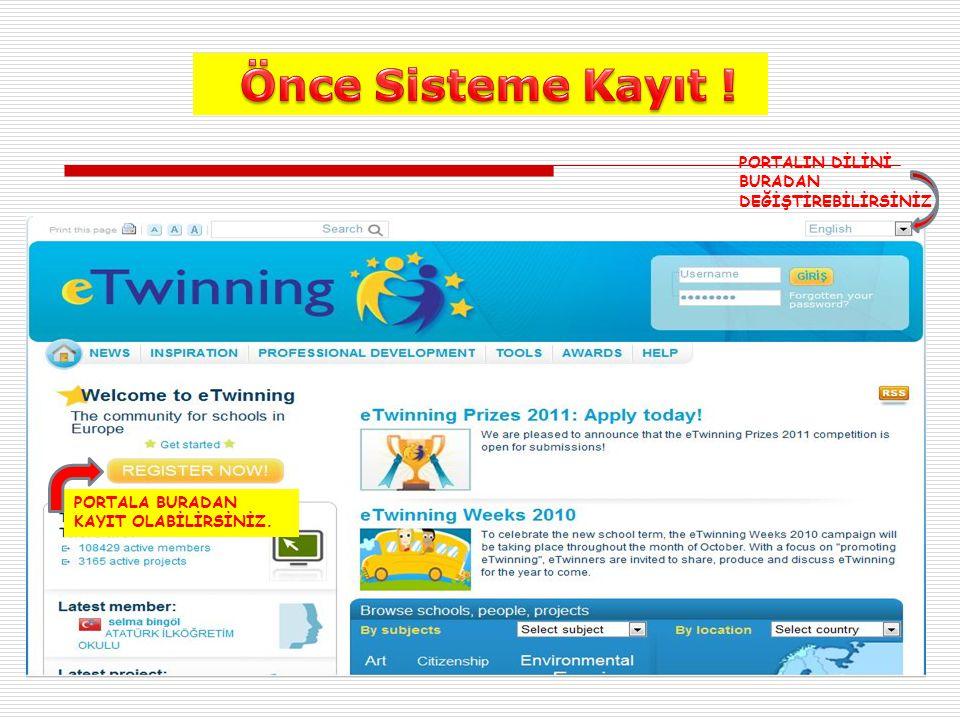 Sisteme 2 Aşamada Kaydoluruz ; 1- Ön Kayıt :