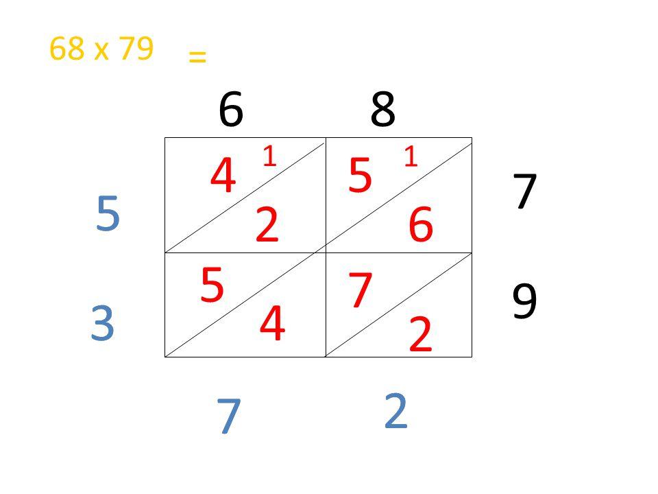 5 6 4 2 7 2 5 4 1 = 6 8 7 9 1 2 7 3 5 2 7 3 5 68 x 79