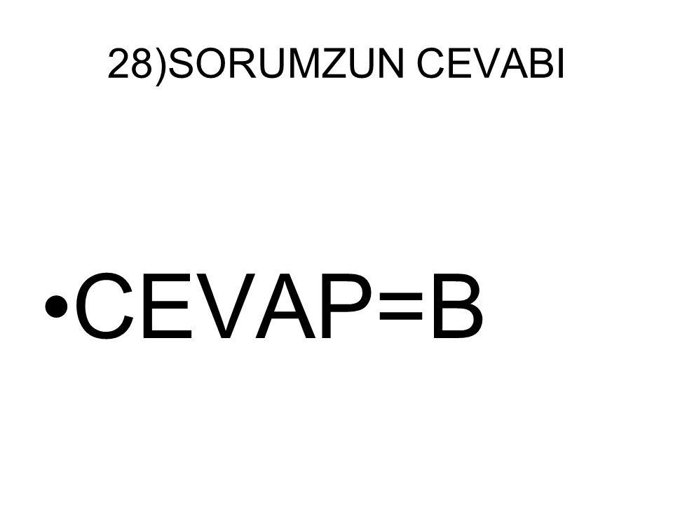 28)SORUMZUN CEVABI CEVAP=B