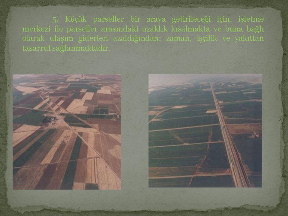 6.Yeni, yol, sulama ve drenaj ağına uyumlu, blok (ada) planlamasının hazırlanması.