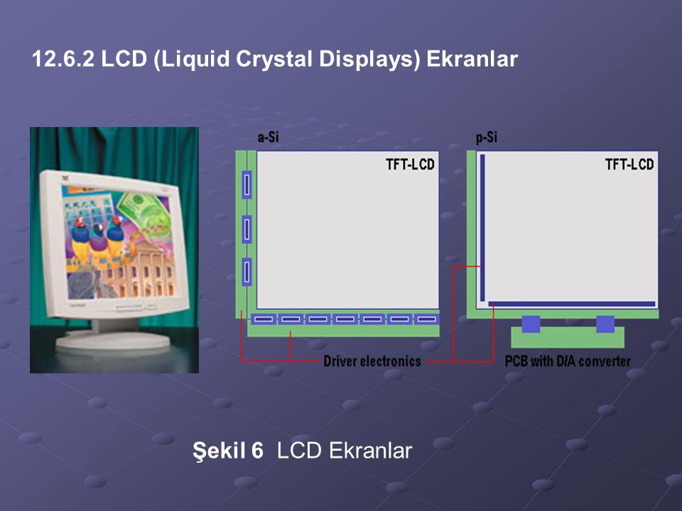 12.6.2 LCD (Liquid Crystal Displays) Ekranlar Şekil 6 LCD Ekranlar