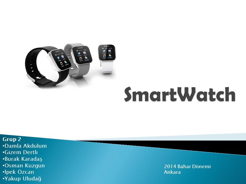  SmartWatch 2, dış görünümüyle normal bir saati andırıyor.