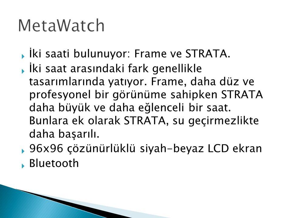  İki saati bulunuyor: Frame ve STRATA.