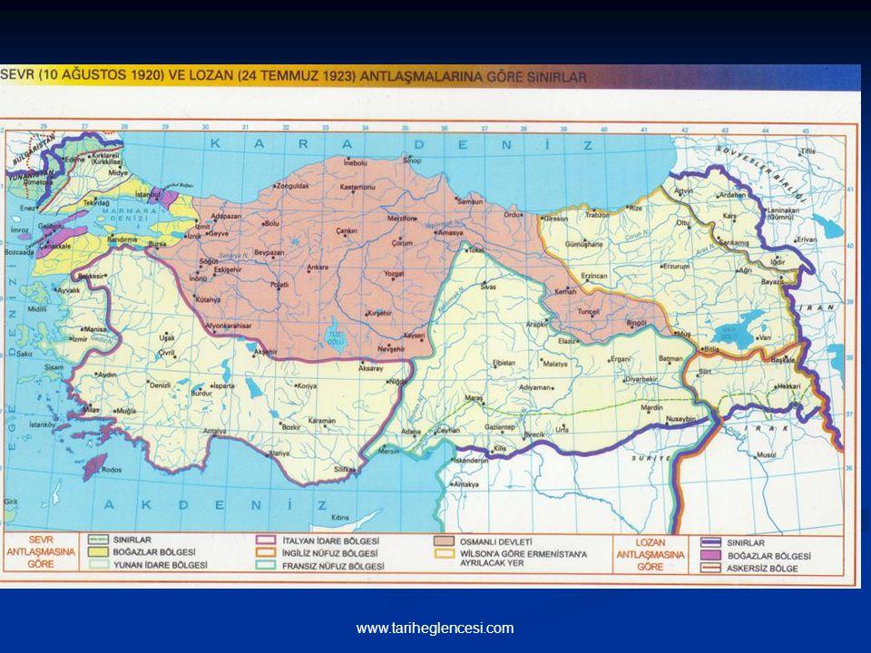 Batı Sınırı: Mudanya Konferansı ile çizilen Meriç nehri idi. Bozcaada, Gökçeada ve Tavşan adaları dışında kalan adalar Yunanistan'a bırakıldı. Rodos v