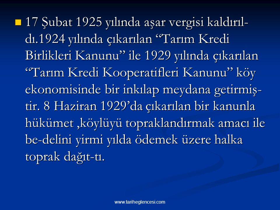 """"""" Milli ekonominin temeli ziraattir."""" sözleriyle Atatürk,tarımın yeni Türk Devleti için taşıdığı önemi vurgulamıştır. Tarımın durumunu iyi- leştirmek"""